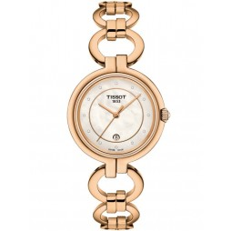 Tissot Ladies T-Lady Flamingo Diamond Gold Watch T094.210.33.116.01