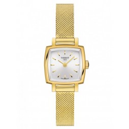 Tissot Ladies T-Lady Lovely Square Gold Tone Mesh Bracelet Watch T058.109.33.031.00