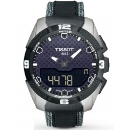 Tissot Mens T-Touch Expert Solar Black Leather Strap Watch T091.420.46.051.01