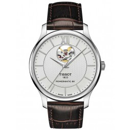 Tissot Tradition Powermatic 80 Brown Strap Watch T063.907.16.038.00