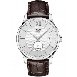 Tissot Mens Brown Leather Strap Watch T0634281603800
