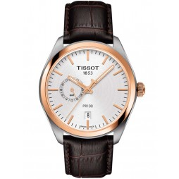 Tissot Mens PR100 Dual Time Strap Watch T101.452.26.031.00