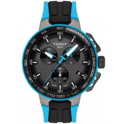 Tissot Mens T-Race Cycling Light Blue Watch T111.417.37.441.05
