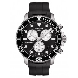 Tissot Mens T-Sport Seastar 1000 Chronograph Black Rubber Strap Watch T120.417.17.051.00