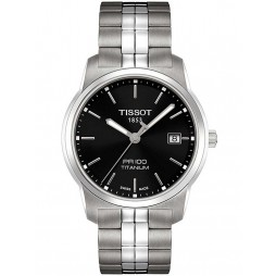 Tissot Mens PR100 Titanium Black Bracelet Watch T049.410.44.051.00