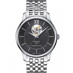Tissot Mens Tradition Powermatic 80 Open Heart Watch T063.907.11.058.00