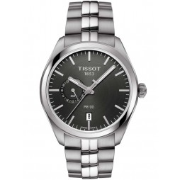 Tissot Mens T-Classic PR100 Dual Time Watch T101.452.11.061.00