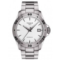 Tissot Mens V8 Swissmatic White Dial Bracelet Watch T106.407.11.031.01