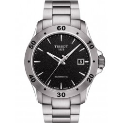 Tissot Mens T-Sport V8 Swissmatic Black Dial Bracelet Watch T106.407.11.051.00