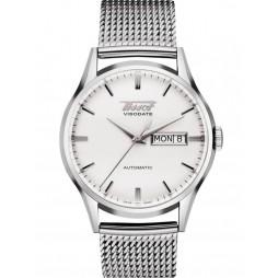Tissot Mens Heritage Visodate Automatic White Dial Mesh Bracelet Watch T019.430.11.031.00
