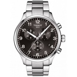 Tissot Mens T-Sport Chrono XL Classic Black Dial Bracelet Watch T116.617.11.057.01