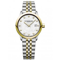 Raymond Weil Ladies Toccata Two Colour Diamond Set Bracelet Watch 5626-STP-97081