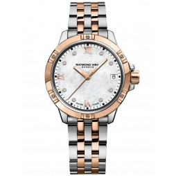 Raymond Weil Ladies Tango Two Colour Diamond Set Bracelet Watch 5960-SP5-00995