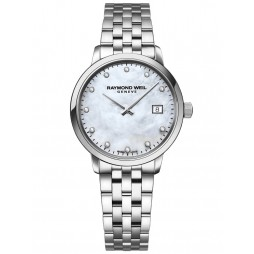 Raymond Weil Ladies Toccata Diamond Set Mother Of Pearl Dial Bracelet Watch 5985-ST-97081