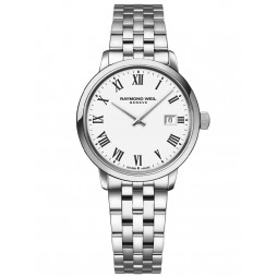 Raymond Weil Ladies Toccata Classic White Roman Numeral Dial Bracelet Watch 5985-ST-00300