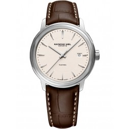 Raymond Weil Maestro Brown Leather Strap Watch 2237-STC-65011