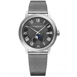 Raymond Weil Mens Maestro Moon Phase Bracelet Watch 2239M-ST-00659