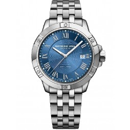 Raymond Weil Mens Tango Blue Bracelet Watch 8160-ST-000508