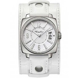 Thomas Sabo Ladies White Cuff Watch WA0087-215-202