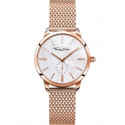 Thomas Sabo Ladies Glam And Soul Rose Gold Tone Mesh Bracelet Watch WA0303-265-213-33MM