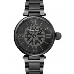 Thomas Sabo Ladies Karma Black Kathmandu Bracelet Watch WA0307-202-203-38MM