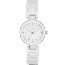 DKNY Ladies White Ceramic Watch NY2354