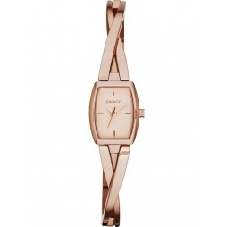 DKNY Ladies Crosswalk Rose Gold Plated Bracelet Watch NY2314