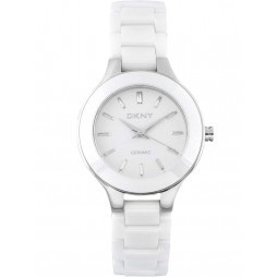 DKNY Ladies Chambers White Ceramic Bracelet Watch NY4886