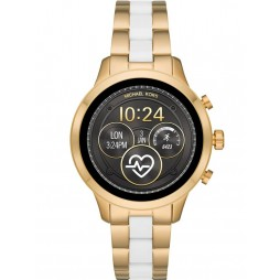 Michael Kors Access Ladies Runway Gold Plated White Bracelet Smartwatch MKT5057