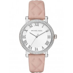 Michael Kors Ladies Norie Stone Set Pink Strap Watch MK2617