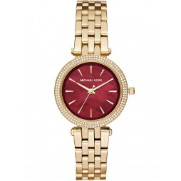 Michael Kors Ladies Darci Gold Plated Bracelet Watch MK3583