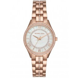 Michael Kors Ladies Lauryn Rose Gold-plated Bracelet Watch MK3716