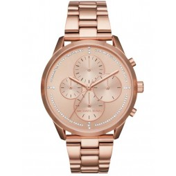 Michael Kors Ladies Slater Rose Gold-plated Bracelet Watch MK6521