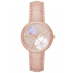 Michael Kors Courtney Pink Strap Watch MK2718