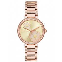 Michael Kors Courtney Rose Tone Bracelet Watch MK3836