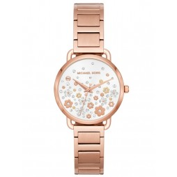 Michael Kors Mini Portia Rose Tone Bracelet Watch MK3841