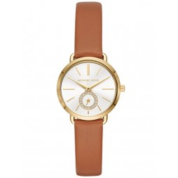 Michael Kors Mini Portia Gold Plated Strap Watch MK2734