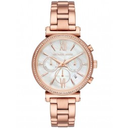 Michael Kors Ladies Sofie Rose Gold Plated Watch MK6576