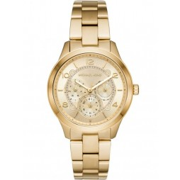 Michael Kors Runway Gold Plated Chronograph Bracelet Watch MK6588