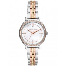 Michael Kors Ladies Portia Two Tone Cubic Zirconia Watch MK3927
