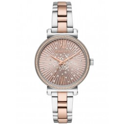 Michael Kors Ladies Sofie Two-Tone Pink Blush Constellation Bracelet Watch MK3972