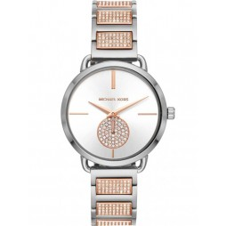 Michael Kors Ladies Portia Two Colour Crystal Bracelet Watch MK4352