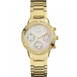 Guess Ladies Mini Glam Hype Gold Plated Bracelet Watch W0546L2