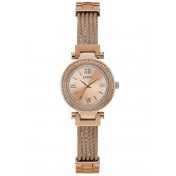 Guess Ladies Mini Soho Rose Tone Bracelet Watch W1009L3