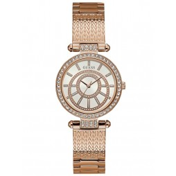 Guess Ladies Muse Rose Tone Bracelet Watch W1008L3