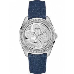 Guess Ladies G Twist Denim Strap Watch W0627L13