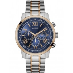 Guess Mens Horizon Chronograph Two Tone Bracelet Watch W0379G7