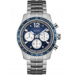 Guess Mens Blue Chronograph Bracelet Watch W0969G1