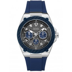 Guess Mens Legacy Blue Rubber Strap Watch W1049G1