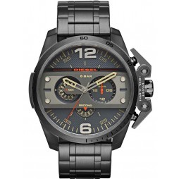 Diesel Mens Ironside Dark Black Watch DZ4363